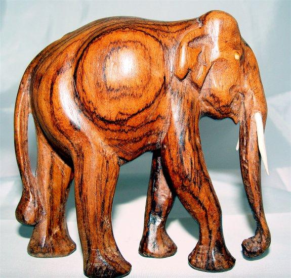 ELEPHANT - Wood Sculpture - NEW