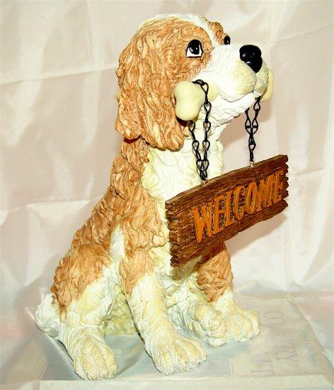 DOG - Ceramic - Garden Patio Decor - (NIB)