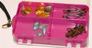 FISHING TACKLE BOX w/accessories
