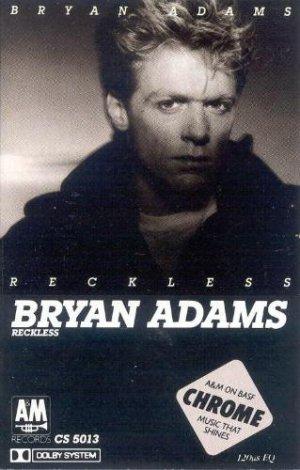 Bryan Adams Reckless Cassette Tape