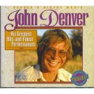 John Denver His Greatest Hits and Finest Performances Cassette Tape #2