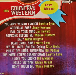 1966 Country And Western Award Winners - LP