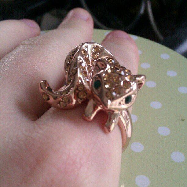 Beautiful Fox Ring (gold plated) cute
