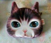 Cat Coin Purse (Brown)