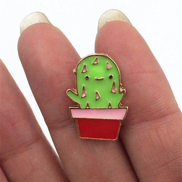 Cute cactus pin brooch
