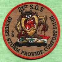 OPERATION DESERT STORM 21st S.O.S MILITARY PATCH TAZ!