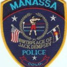 Manassa Colorado Police Patch Home of Jack Dempsey