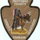 Cheyenne County Sheriff Colorado Police Patch
