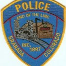 Granada Colorado Police Patch Locomotive