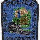 Idaho Springs Colorado Police Patch Locomotive