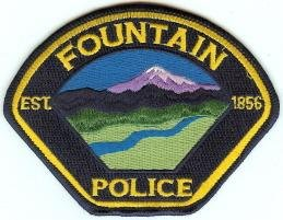 Fountain Colorado Police Patch