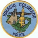 Ignacio Colorado Police Patch