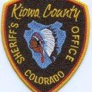 Kiowa County Sheriff Colorado Police Patch