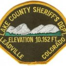 Lake County Sheriff Colorado Police Patch