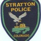 Stratton Colorado Police Patch