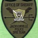 Jacksonville County Sheriff Florida Police Dive Team Patch