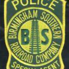 Birmingham Southern Railroad Police Patch