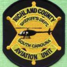 Richland County Sheriff South Carolina Helicopter Air Unit Police Patch