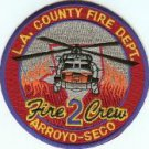 Los Angeles County Camp 2 Fire Crew Patch Arroyo-Seco