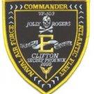 VF-103 JOLLY ROGERS SQUADRON ATLANTIC FLEET COMMAND PATCH