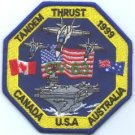 CH-63 USS KITTY HAWK OPERATION TANDEM THRUST PATCH