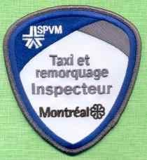 Montreal Quebec CANADA Police Patch Taxi et Remorquage