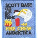 Antarctica Scott Base Naval Station Fire Rescue Patch