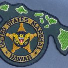 United States Marshal Hawaii Police Patch State Shaped!