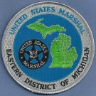 United States Marshal Eastern Michigan Police Patch