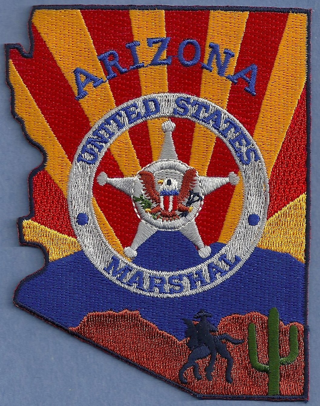 United States Marshal Arizona Police Patch