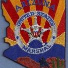 United States Marshal Arizona Police Patch