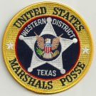 United States Marshal West Texas Posse Police Patch