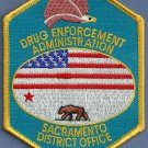 DEA Sacramento California District Office Police Patch