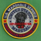 United States Marshal Explosives K-9 Detection Police Patch