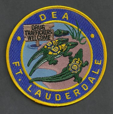 DEA Fort Lauderdale Florida District Office Police Patch
