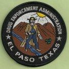 DEA Drug Enforcement Administration El Paso Texas Police Patch