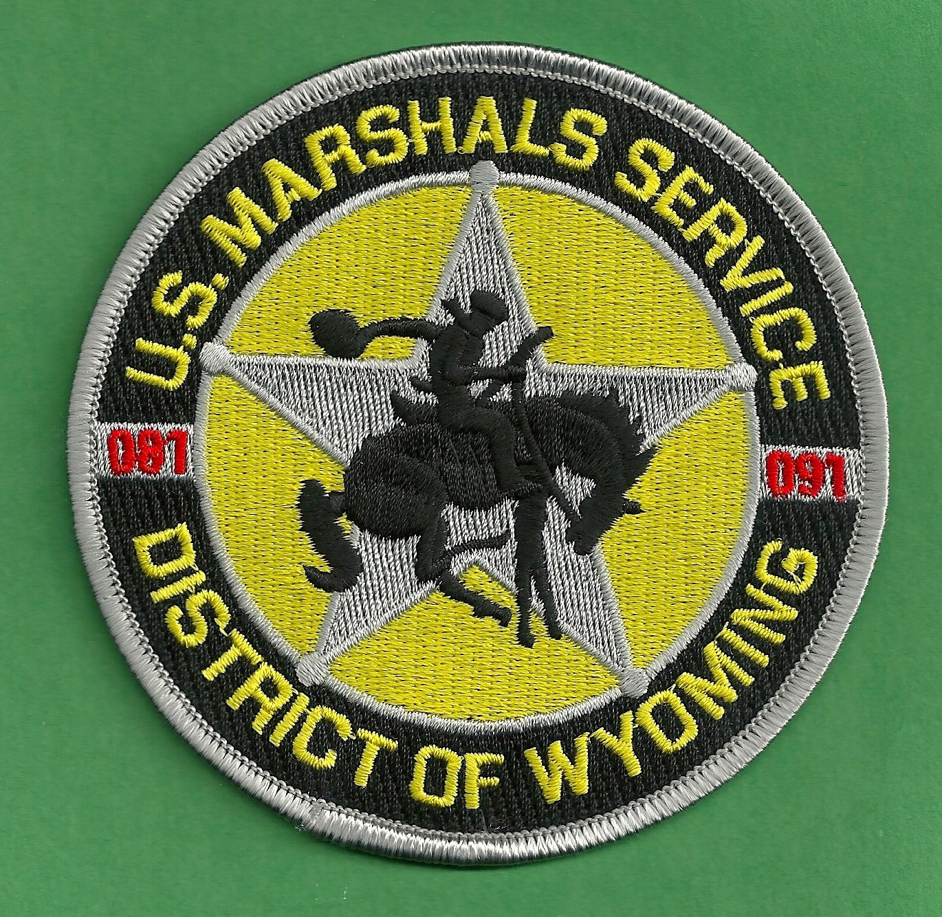 United States Marshal Wyoming District Police Patch