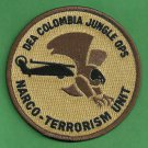 DEA Colombia Narco Terrorism Task Force Police Patch