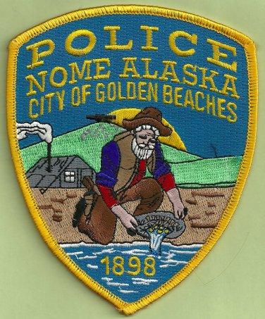 Nome Alaska Police Patch Gold Prospector!