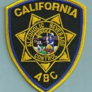 California Alcoholic Beverage Control Police Patch