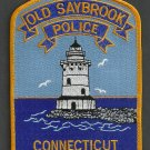 Old Saybrook Connecticut Police Patch Lighthouse