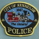 Kennesaw Georgia Police Patch Locomotive