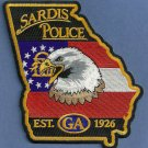Sardis Georgia Police Patch
