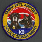 Tampa International Airport Florida Police K-9 Unit Patch