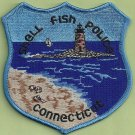Shell Fish Connecticut Police Patch Lighthouse