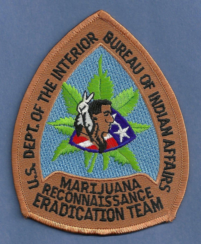 Bureau of Indian Affairs Marijuana Eradication Police Patch