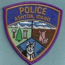 Ashton Idaho Police Patch