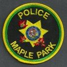 Maple Park Illinois Police Patch