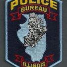 Bureau Illinois Police Patch Locomotive