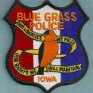 Blue Grass Iowa Police Patch